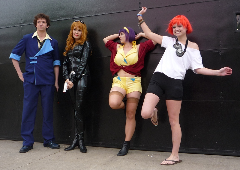 A group of Cowboy Bebop cosplayers from ACen 2010