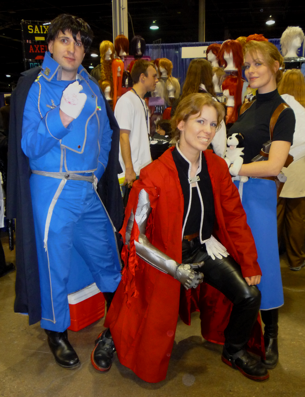 The folks from And Sewing Is Half The Battle cosplaying as characters from Full Metal Alchemist at ACen 2010