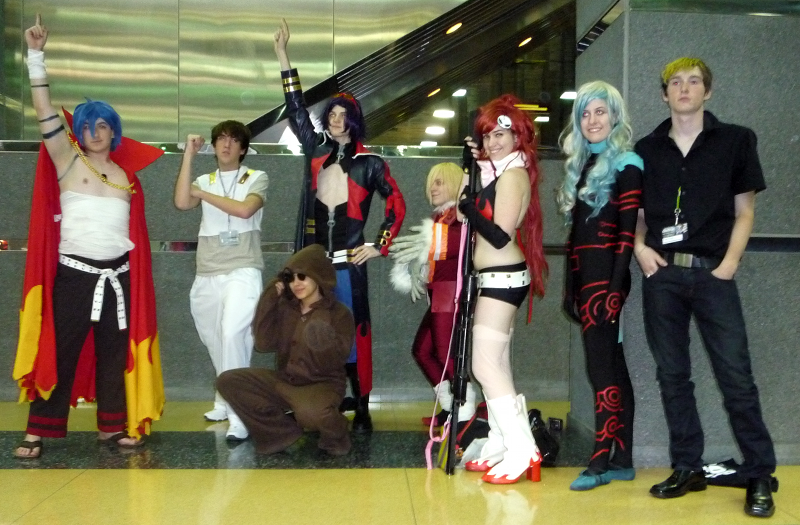 A large group of Gurren Lagann cosplayers at ACen 2010