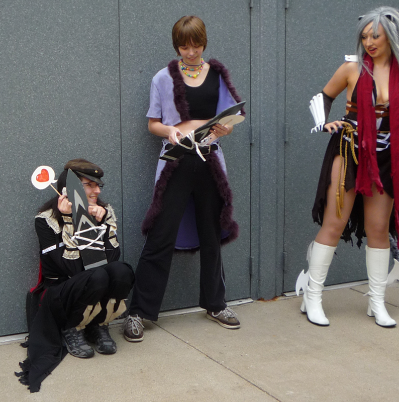 A group of cosplayers at the Ragnarok Online photo shoot during ACen 2010