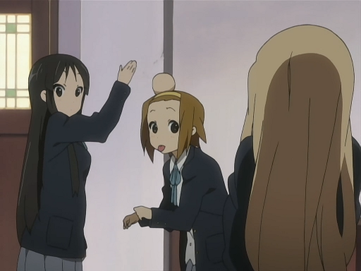 Mio and Ritsu discuss the band