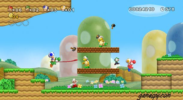 Super Mario Brothers Wii World 1-3