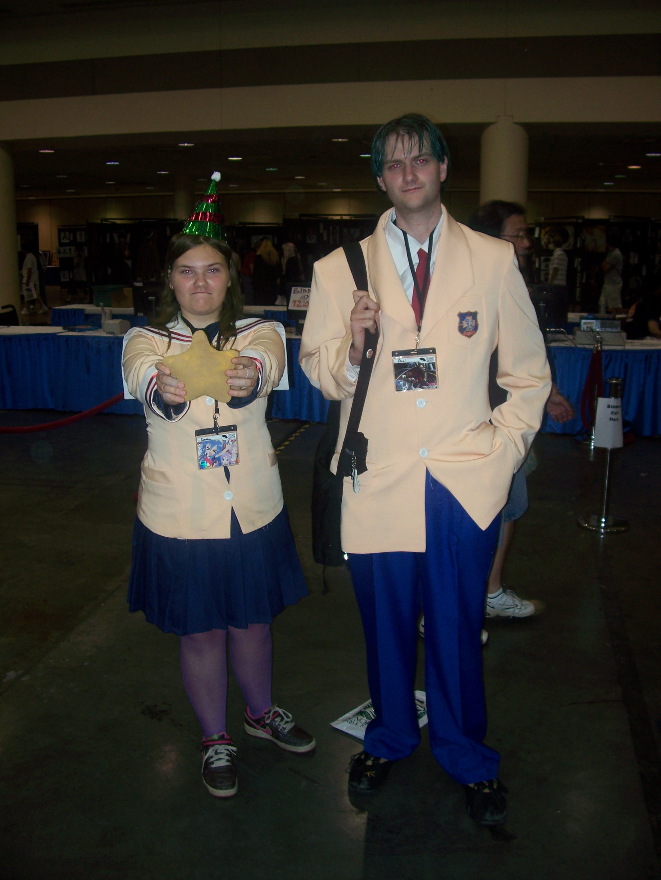 Two Cosplayers are Fuuko and Tomoya from <em>Clannad</em>