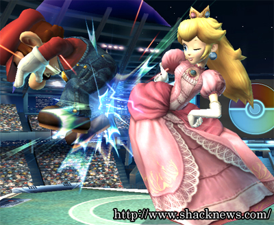 Peach Butt Bombs Mario... heh heh
