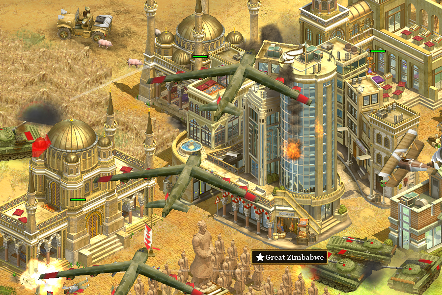 Screenshot of Rise of Nations gameplay